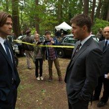 Jensen Ackles e Jared Padalecki nell'episodio Bitten dell'ottava stagione di Supernatural