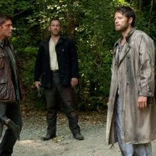 Jensen Ackles, Misha Collins e Ty Olsson nell'episodio What's Up, Tiger Mommy? dell'ottava stagione di Supernatural