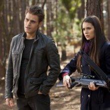Nina Dobrev e Paul Wesley in una scena dell'episodio L'uccisione di uno della terza stagione di The Vampire Diaries