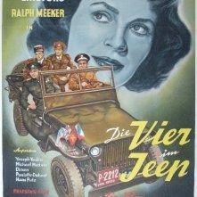 Quattro in una jeep: la locandina del film