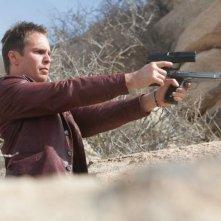 Sam Rockwell in azione in una scena di 7 psicopatici