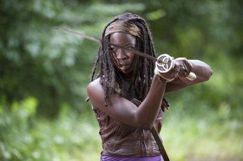 The Walking Dead: Danai Gurira è Michonne nell'episodio Benvenuti a Woodbury