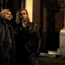 Ixjana: i fratelli Józef e Michał Skolimowski, registi del film, in un'immagine sul set