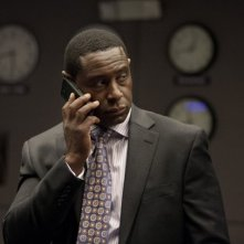 David Harewood in una scena dell'episodio Q&A della serie Homeland