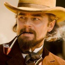Leonardo DiCaprio nei panni del villain Calvin Candie in Django Unchained