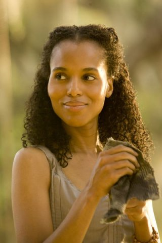 Un primo piano di Kerry Washington in Django Unchained