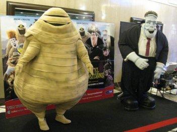 Due mostruosi amici di Hotel Transylvania presenti all'anteprima del film a Lucca Movie Comics & Games