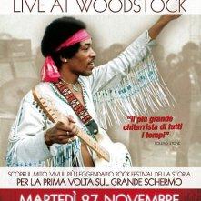 Hendrix 70. Live at Woodstock: la locandina del film