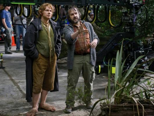 Lo Hobbit: un viaggio inaspettato: foto dal set con Peter Jackson e Martin Freeman
