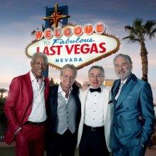 Last Vegas: i protagonisti Michael Douglas, Morgan Freeman, Kevin Kline e Robert De Niro