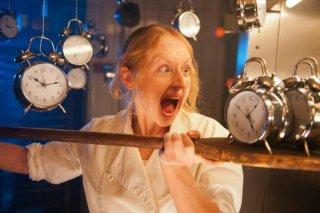 Brigitte Hobmeier nella commedia Was machen Frauen morgens um halb vier?
