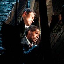 Channing Tatum e Denzel Washington in una scena di White House Down