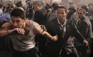 Jamie Foxx e Channing Tatum in una drammatica immagine di White House Down