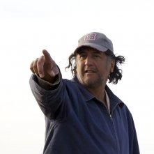 Aspettando il mare: il regista del film Bakhtyar Khudojnazarov sul set