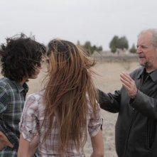 Marfa Girl: il regista Larry Clark con Adam Mediano e Mercedes Maxwell sul set