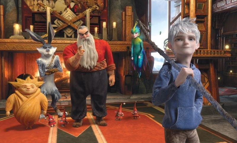 Le 5 Leggende Santa Claus Jack Frost Il Calmoniglio E Sandman E La Fatina Dei Dentini In Una Scena 256751