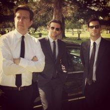 Una notte da leoni 3: Bradley Cooper, Justin Bartha e Ed Helms in attesa del ciak