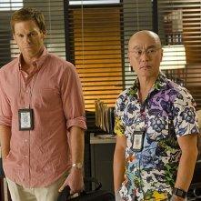 Dexter: Michael C. Hall e C.S. Lee nell'episodio Chemistry