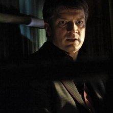 Nathan Fillion in una scena dell'episodio After Hours della quinta stagione della serie Castle - Detective tra le righe