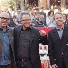 Ralph Spaccatutto: Paolo Virzì (doppiatore italiano), Rich Moore (regista) e Clark Spencer (produttore) sul red carpet del Festival di Roma 2012