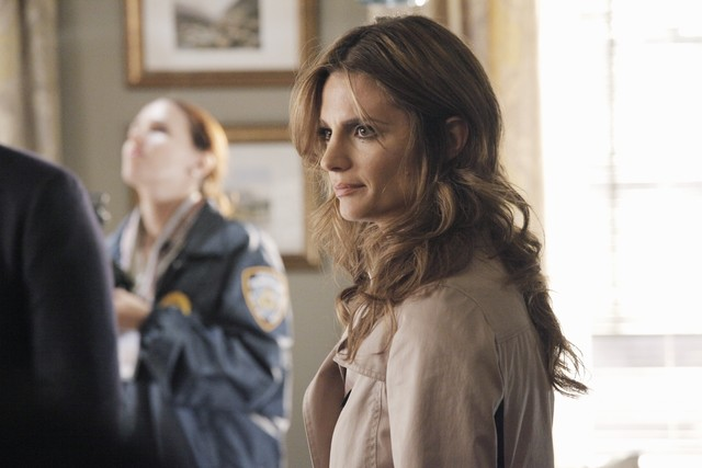 Stana Katic in una scena dell'episodio Probable Cause della serie Castle - Detective tra le righe