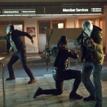 Una scena d'azione dell'episodio Legacies della prima stagione di Arrow