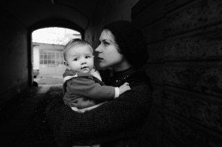 Tutto parla di te: Elena Radonicich in un'immagine in bianco e nero tratta dal film