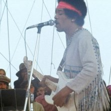Hendrix 70. Live at Woodstock: Jimi Hendrix in una scena del documentario
