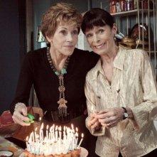 Jane Fonda e Geraldine Chaplin in un momento della commedia E se vivessimo tutti insieme?
