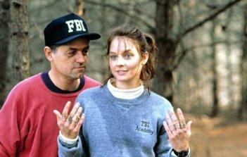 Jodie Foster sul set de IL SILENZIO DEGLI INNOCENTI (1991) con Jonathan Demme