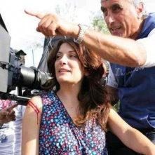 Melina - Con rabbia e con sapere: Caterina Mannello insieme al regista Demetrio Casile sul set