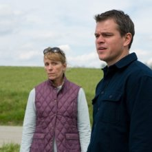 Promised Land: Matt Damon e Frances Mcdormand in una scena del film