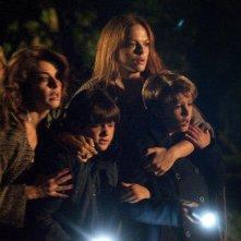 Una famiglia perfetta: Giacomo Nasta e Lorenzo Zurzolo in una scena del film con Eugenia Costantini e Claudia Gerini