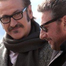 Una famiglia perfetta: Sergio Castellitto e Marco Giallini in un momento del film