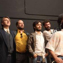 No: Gael García Bernal in una scena di gruppo del film