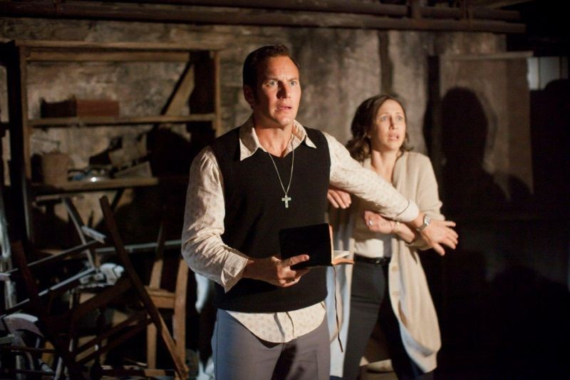 Patrick Wilson e Vera Farmiga in una scena di The Conjuring