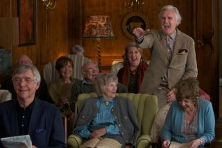 Quartet: Billy Connolly, Pauline Collins e Tom Courtenay in una scena del film