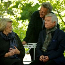 Quartet: Maggie Smith e Tom Courtenay sul set col regista Dustin Hoffman
