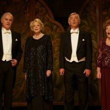 Quartet: Pauline Collins, Billy Connolly, Tom Courtenay e Maggie Smith in una scena durante un'esibizione