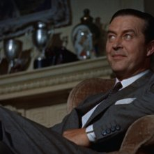 Ray Milland in una scena del film Il delitto perfetto