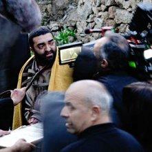 Su Re: Fiorenzo Mattu nei panni di Gesù Cristo sul set