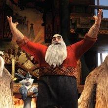 Le 5 leggende: Santa Claus in una scena della pellicola d'animazione