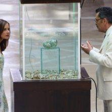 L'isola: Irena Goloubeva ed Andrea Giordana in una scena della fiction Rai