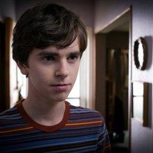 Bates Motel: Freddie Highmore in una scena del pilot della serie A&E