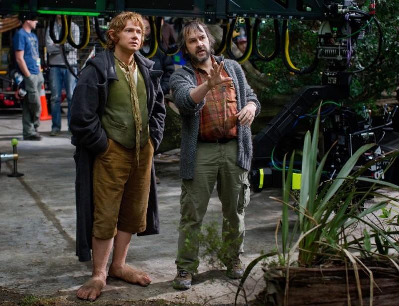 Lo Hobbit - Un viaggio inaspettato: Martin Freeman e Peter Jackson sul set