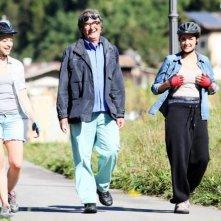 Colpi di fulmine: il regista Neri Parenti sul set insieme a Luisa Ranieri