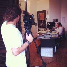 Giampiero Casertano davanti alle telecamere di Fumettology
