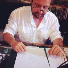 Giampiero Casertano (disegnatore di Dylan Dog) davanti alle telecamere di Fumettology