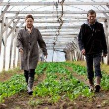 Les Saveurs du Palais: Catherine Frot e Philippe Uchan in una serra in una scena del film
