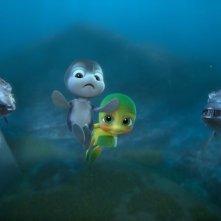 Sammy 2 - La grande fuga: una scena di gruppo tratta dal film d'animazione in 3D